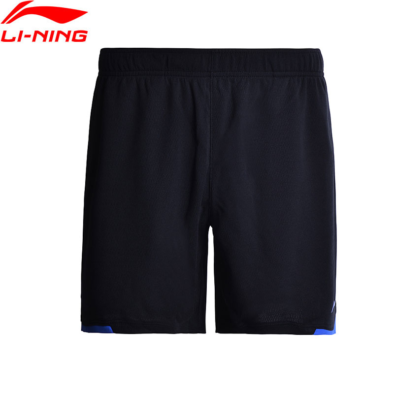 Li-Ning Men Badminton Shorts ATDry Breathable Competition Bottom 100% Polyester LiNing Sports Shorts AAPM143 MKY300(China)