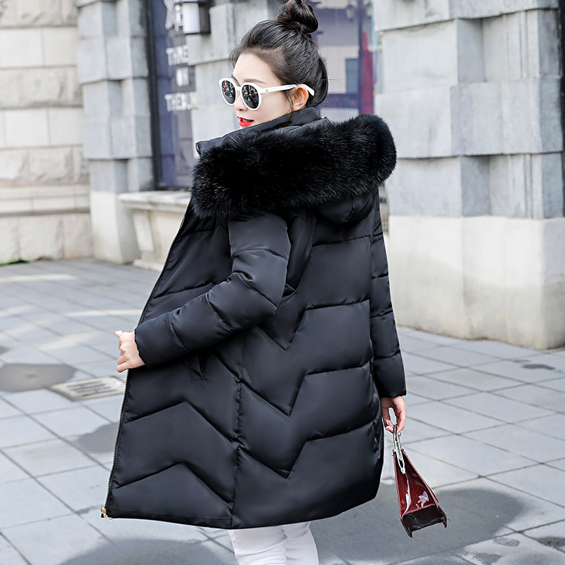 Winter Coat Parkas Down-Jacket Female Plus-Size Womens 6XL Outwear Big Fur