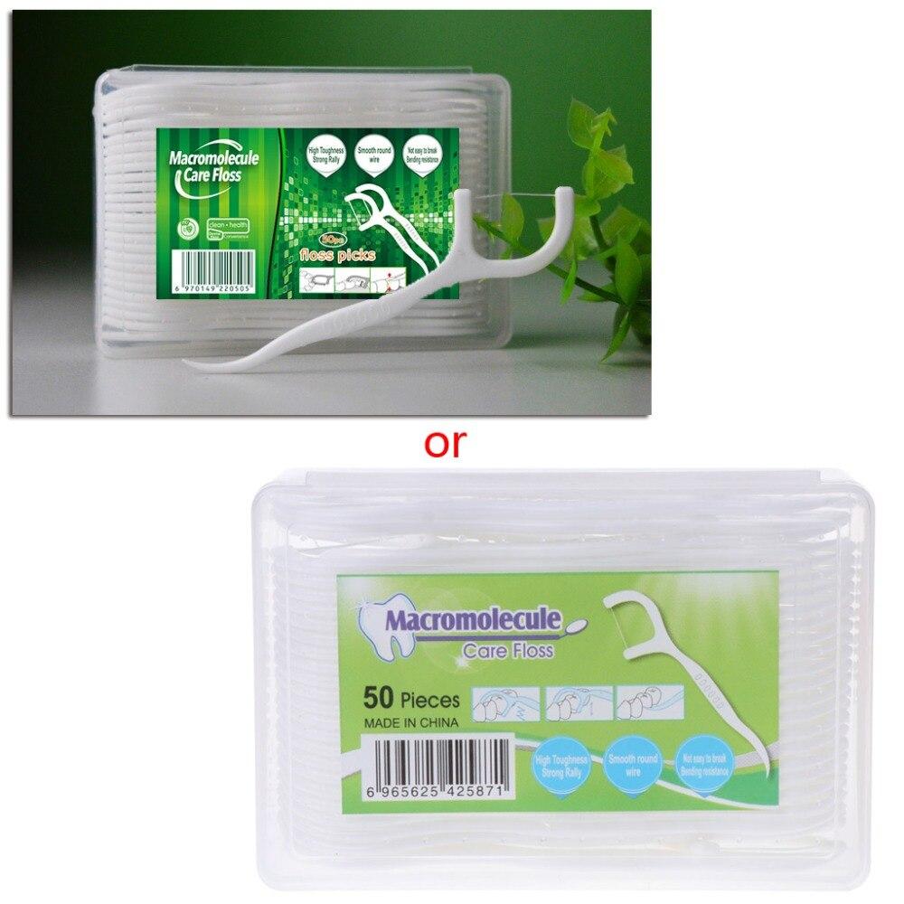 50 шт. зубная нить зубочистки палочки для чистки зубов Уход за полостью рта 7,5 см