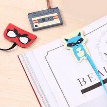 1 шт. милый творческий Disco животного магнитные закладки с лентой Книги маркер страницы канцелярия питания дети награждение