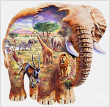 Voll quadratmeter diamant-stickerei elephant zoo wohnkultur mosaik diamant malerei kreuzstich 3D diamant hand