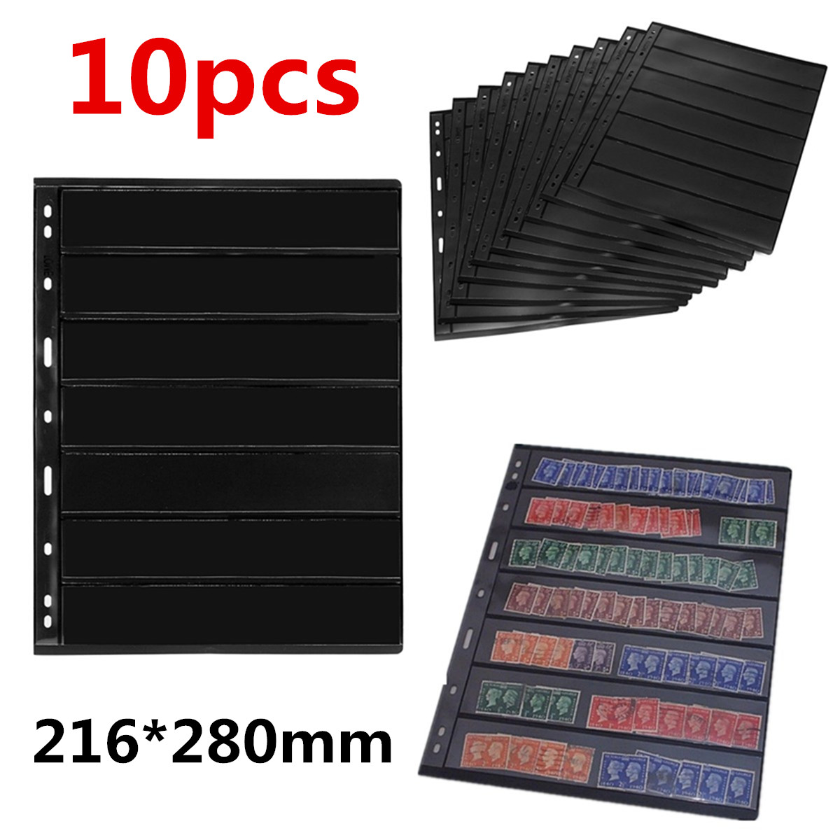 10PCS/Lot Stamps Grid Stamp Page Collection Stamps Holders Of Stamp Album PVC Loose-leaf Inners Of Not Including Cover PCCB