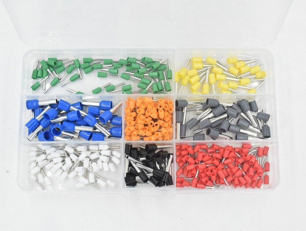800Pcs Connector Terminal Kit Set With 175m Adjustable Ratcheting Ferrule Crimper Plier Crimping Tool цена и фото