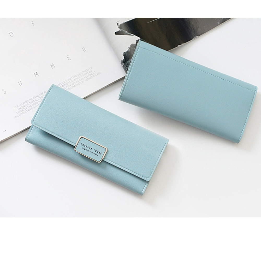 Fashion Wallet Women Luxury Brand Small Zipper Multi Card large capacity Position Leather Coin Purse Card Holder bolsos muje A40