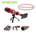 2017 New HD 80X Metal Telephoto Lentes Zoom Lens Telescope For iPhone 4 4s 5 5s 6 6s 7 Plus Samsung Mobile Phone Camera Lenses