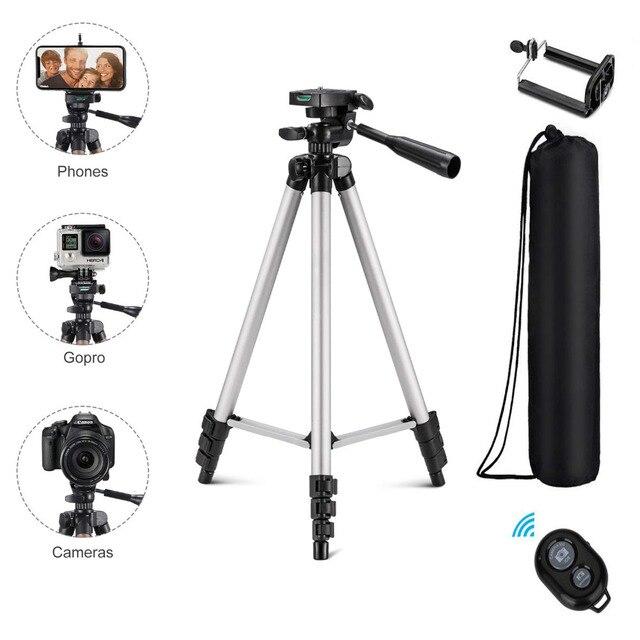 Bluetooth Stativ Aluminium Video Stabilisierung Für IPhone Mobile Dslr Kamera Einstellbar Profesional Smartphone Laser Ebene Stehen