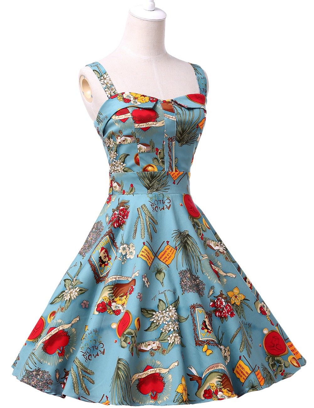 Aliexpress.com : Buy Women Summer Dress Robe Rockabilly Ladies ...