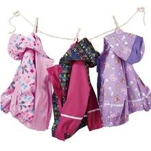 50pcs Children PU Raincoat 2016 New Kids Girl Jacket Striped Cake Print Poncho Rain Coat Waterproof Fashion Rainwear ZA0603