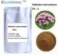 Free shipping Natural Valerian root extract 10:1  bulk powder 200g/bag wholesales price