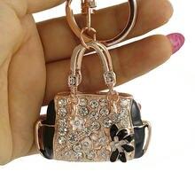75e0a92a8347 Высокое качество Шарм Мода брелок креативная сумочка в форме дизайн брелок  кристалл кошелек сумка брелок Женская