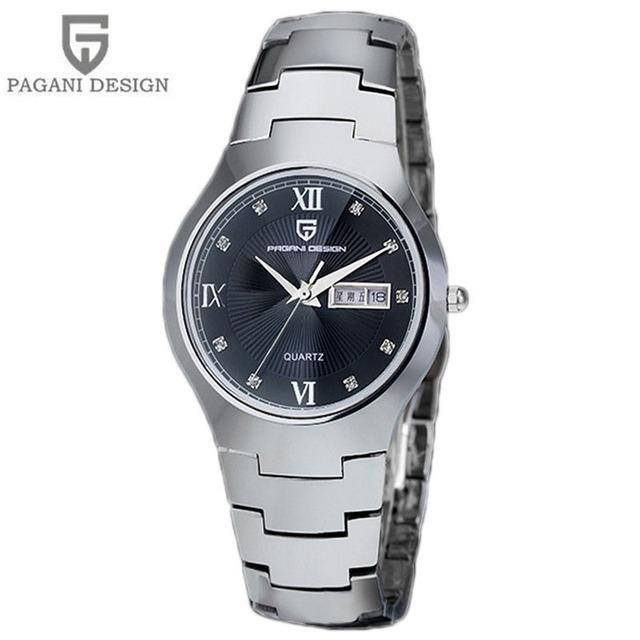 2016 novo pagani design amante de aço de tungstênio relógios homens luxo marca quartz relógio de pulso à prova d' água relogio masculino
