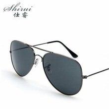 shirui Men UV400 Sunglasses Retro Classic Pilot Glasses Brand Goggles