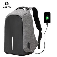 Unisex Laptop USB Charge Anti Theft Backpack For mackbook air/pro 13 Men Travel Security School Bag Teenager PC Rucksack Mochila