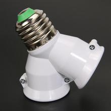 2 в 1 Y Форма E27 лампа база огнестойкий материал держатель конвертер гнездо светильник разделитель ламп адаптер светильник лампа база держатель