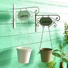 Pastoral Style Iron Hanging Baskets Flower Pot Artificial Flower pot For Home Decoration Garden Supplies