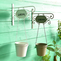 Pastoral Style Iron Hanging Baskets Flower Pot Artificial Flower pot For Home Decoration Garden Supplies