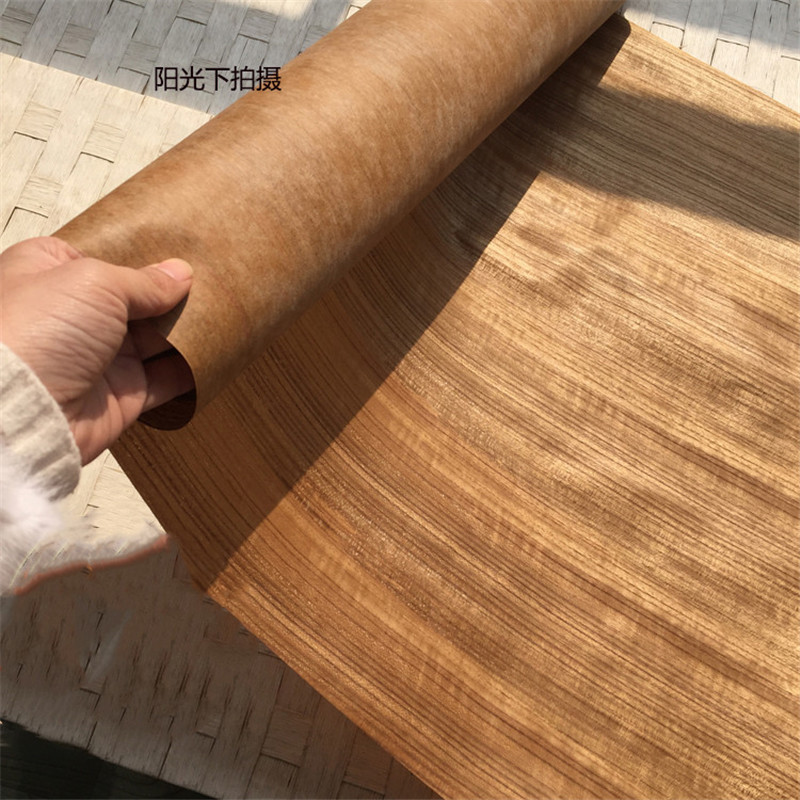 Natural Genuine Wood Veneer Sliced Thai Teak Furniture Veneer 64cm 26cm X 2.5 Meters