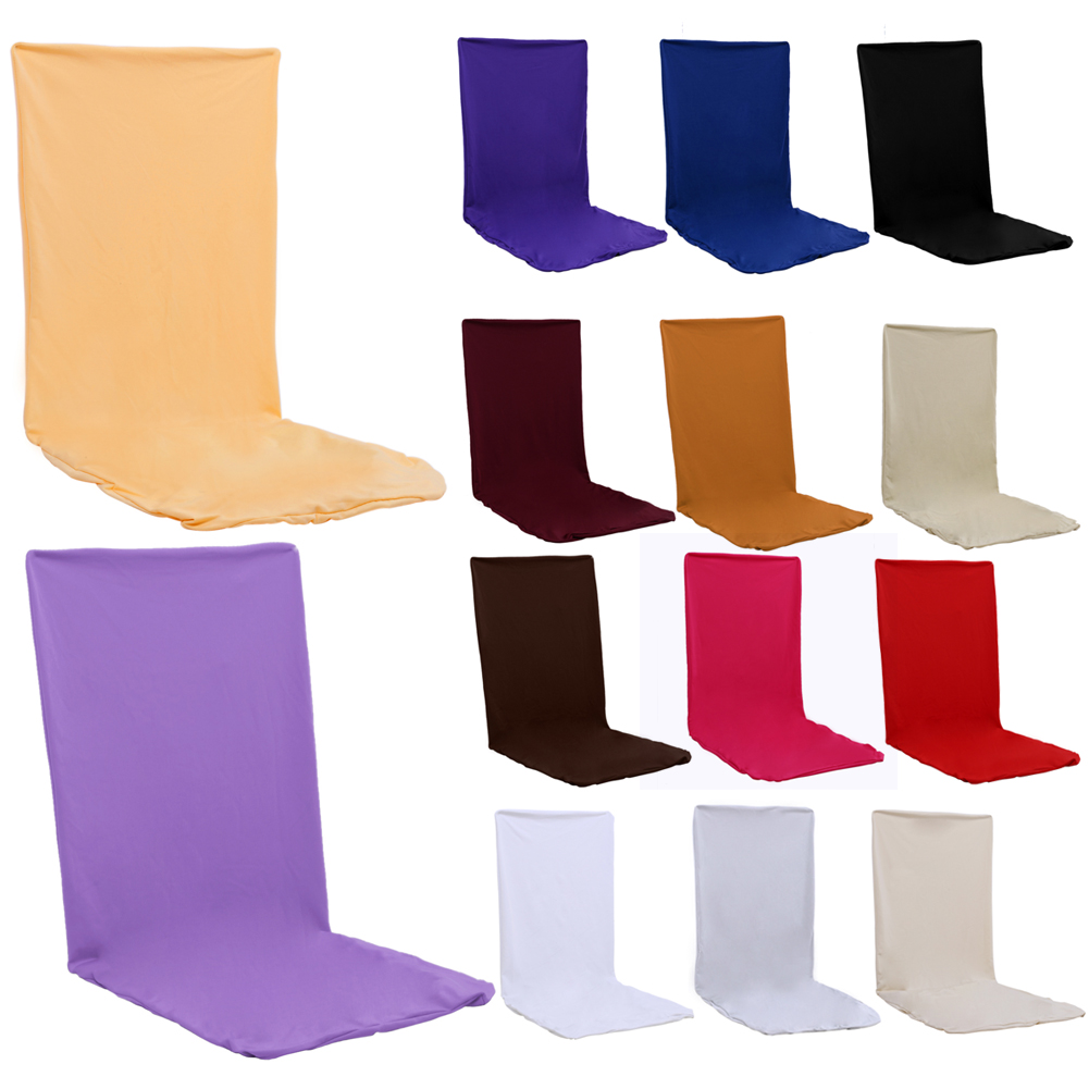 Oil-proof Chair Covers Wedding Decoration Solid Colors Polyester Spandex Elastic Cloth Dining Chair Covers For Wedding Party