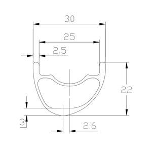Image 2 - Llanta de carbono asimétrica para bicicleta de montaña, llanta de carbono de 30mm x 22mm, mate brillante, 25mm de anchura interior, peso ligero, 310g, 29er XC