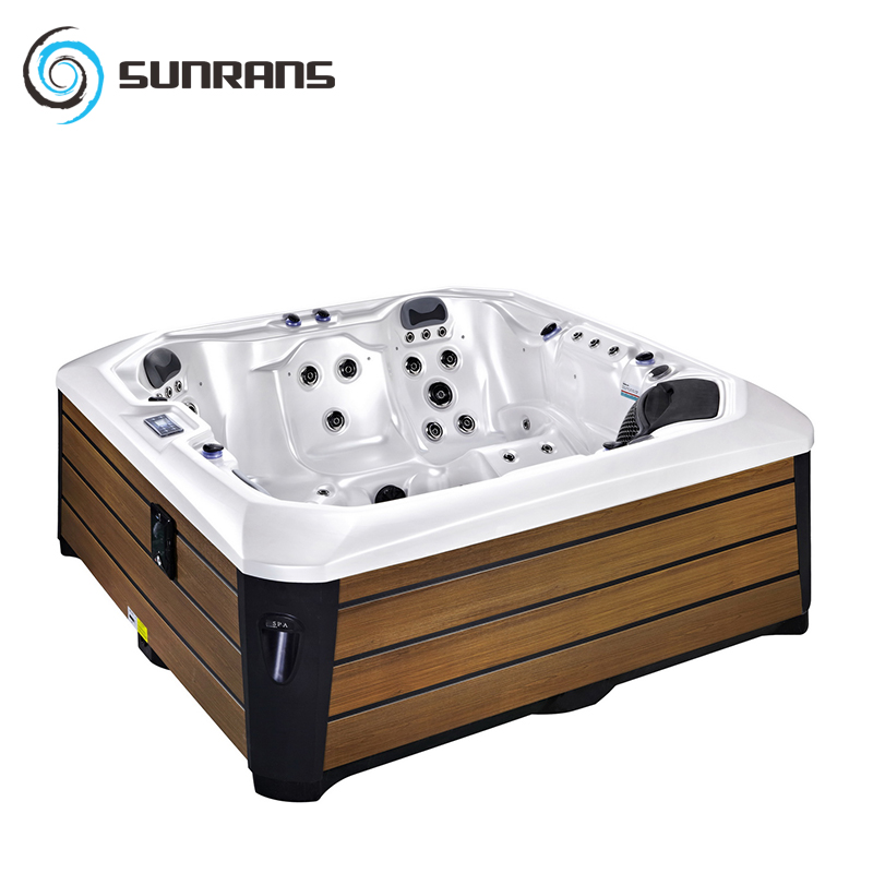 Sunrans Outdoor Spa Hot Tub Surfing Massage Acrylic Bathtub Square ...