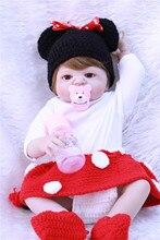 Bebe reborn 55cm inteiro realista silicona de renacer muñeca de los bebés recién nacido juguetes de bebé de moda l o juguete de regalo de muñecas l