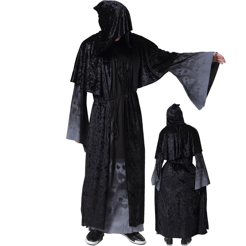 2017 Grim Reaper Dress Demon Terror Vampire Devil Cosplay