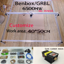 6500mw laser cutter Fancy laser carving 6.5w 40*50cm mini DIY laser engraving machine/IC mark/laser printer/carving work DHLship