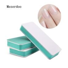 10Pcs Double Side Nail Sanding File Buffer Block Sand Washable Manicure Tool DIY Polish Green White Buffers Beauty Gifts
