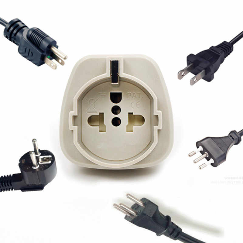 1 PC Wit zwart S. afrika Converter AU UK US EU Small Zuid-afrika Plug Stopcontact Adapter Socket Nepal India Sri Lanka