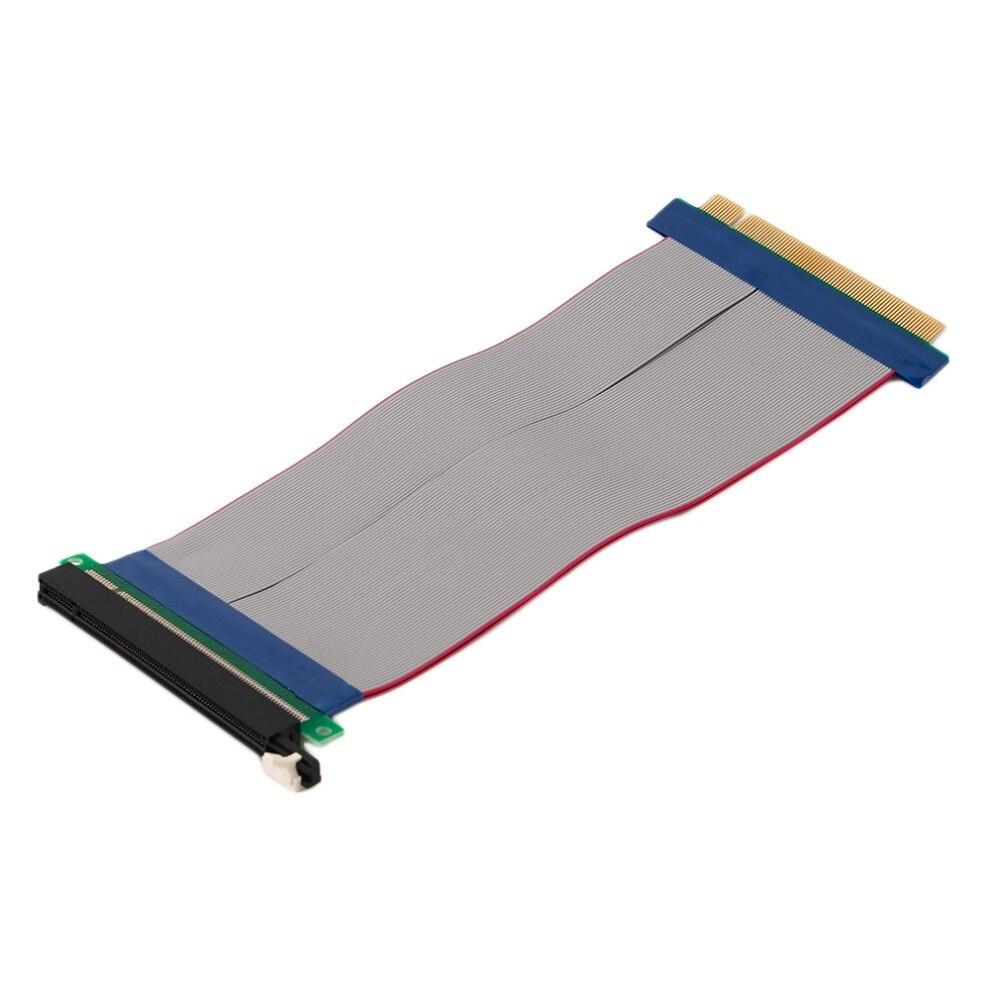 PCI-Express PCI-E 16X Riser Card Ribbon Extender Extension Cable pci