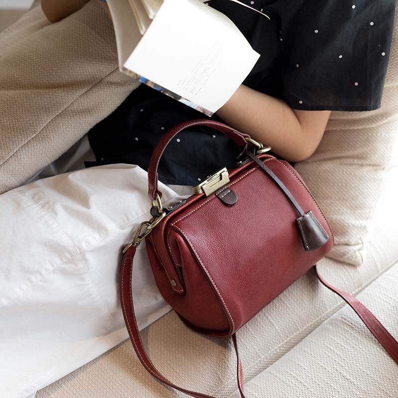 Новая оригинальная сумка через плечо в стиле ретро, Повседневная сумка, простая кожаная сумка мессенджер