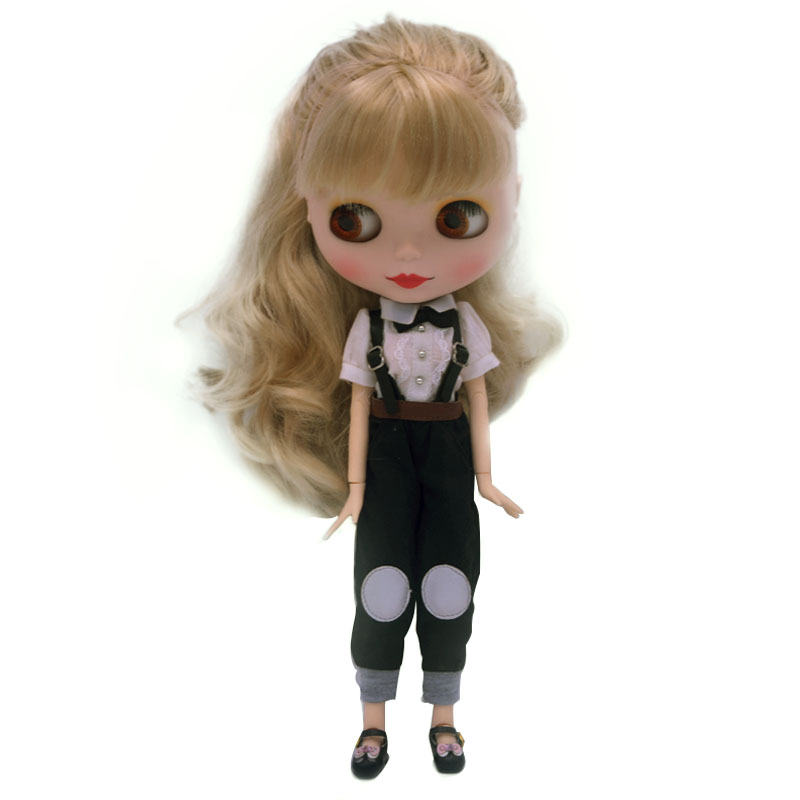 Blyth BJD doll, Blyth Doll Nude Customized Coffee Muscle Dolls Can Changed Makeup and Dress DIY, 12 Inch Ball Jointed Dolls NO.3 aselnn 2017 women ripped jeans femme plus size vintage female 2017 ladies blue denim pants pencil casual brand fashion