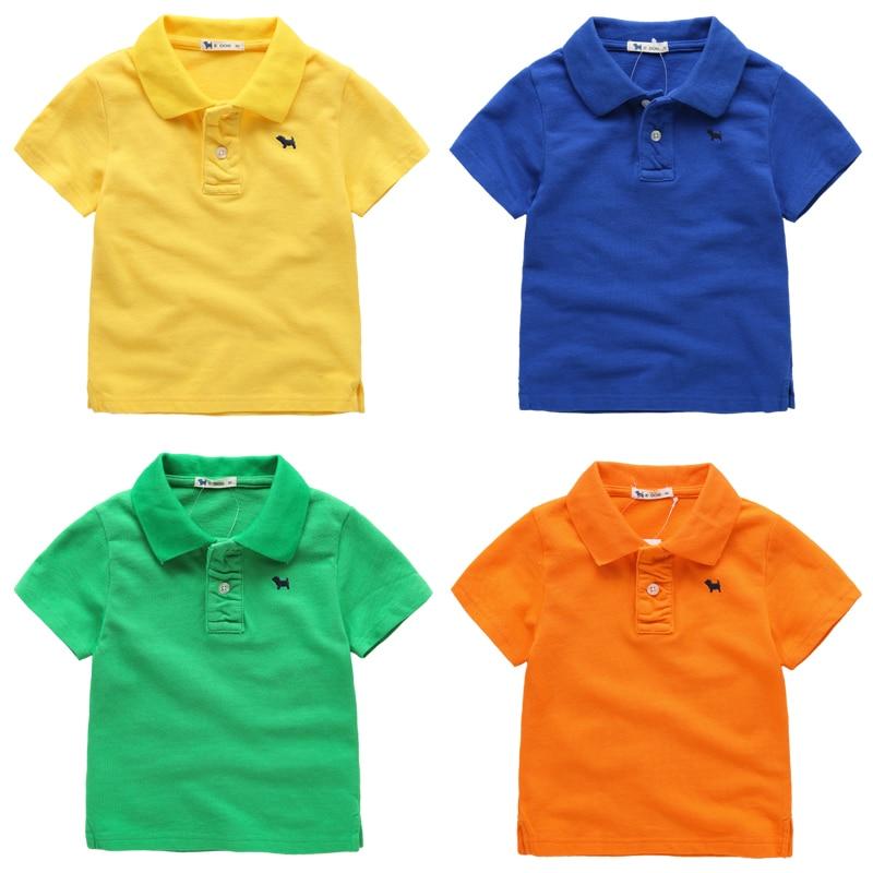 50f5164a8be Child t shirt short sleeve baby 2015 summer polo shirt children s clothing  solid color cotton 100% basic shirt male child en Camisetas de Mamá y bebé  en ...