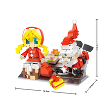 купить hot LegoINGlys creators scenes Santa Claus and girls figures micro diamond building blocks model nanoblock bricks toys for gift по цене 1177.37 рублей