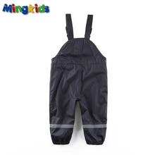 Mingkids bébé garçon salopette imperméable doublure polaire pantalon en plein air pantalon Allemand qualité coupe-vent pantalon de pluie 86-92 Européenne si