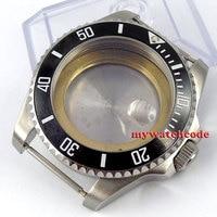 43mm sapphire glass stainless steel Watch Case fit ETA 2824 2836 MOVEMENT 35