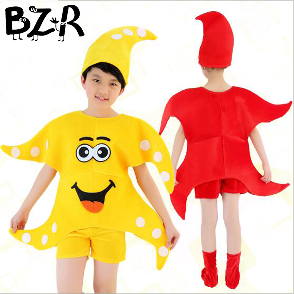 Children Holiday Cosplay Costumes Boys Girls Starfish Baby Performance Wear Dots Starfish Stage Show Clothes Dance Dancing Suit