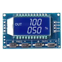Signal Generator LCD Display Module Output PWM Pulse Frequency Duty Cycle Adjustable Display Modules 1Hz-150Khz 3.3V-30V TTL