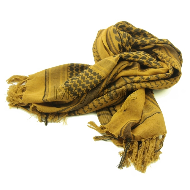 Coyote Brown 100% Cotton Arab Keffiyeh Shemagh Scarf Military Tactical  Scarves Thickened Hijab Square Windproof Bandanas 0d7ca2dbf3b