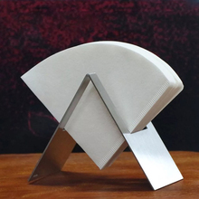 Stainless Steel Coffee Filter Holder - Paper Storage Rack V60 Container Stand