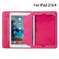 Luxury PU Smart Full Protect Tablets Wallets Cover Stand Case Universal For Funda Apple IPad2 IPad3
