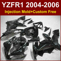 7gifts Injection ABS plastic factory fairings kits for YAMAH R1 2004 2005 2006 YZFR1 04 05 06 YZF1000 all black fairing parts