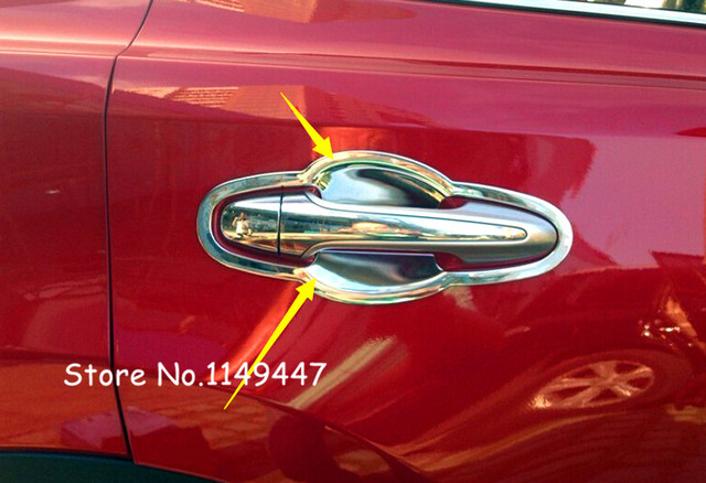 for Toyota Harrier 2013-2017 XU60 Accessories Car Styling Exterior ABS  Chrome Side Door Handle - For Toyota Harrier 2013 2017 XU60 Accessories Car Styling Exterior