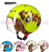 Нидерланды разрешения ABS ВЕОН ребенок мотоциклетный шлем B-103 детей пол-лица мотоцикл шлемы Желтый Медведь Размер XL 52-54 см