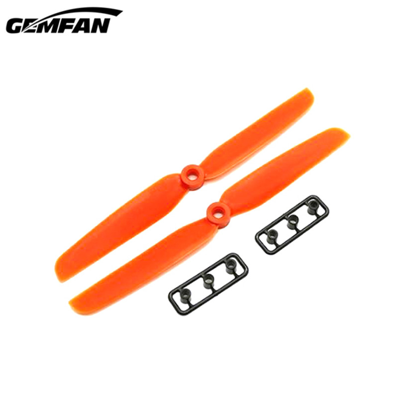 1 Pair WSX / Gemfan 6030 6x3 /  5040 5x4 Inch ABS Propeller for RC Drone FPV Racing Quadcopter DIY Part Accs Orange Green