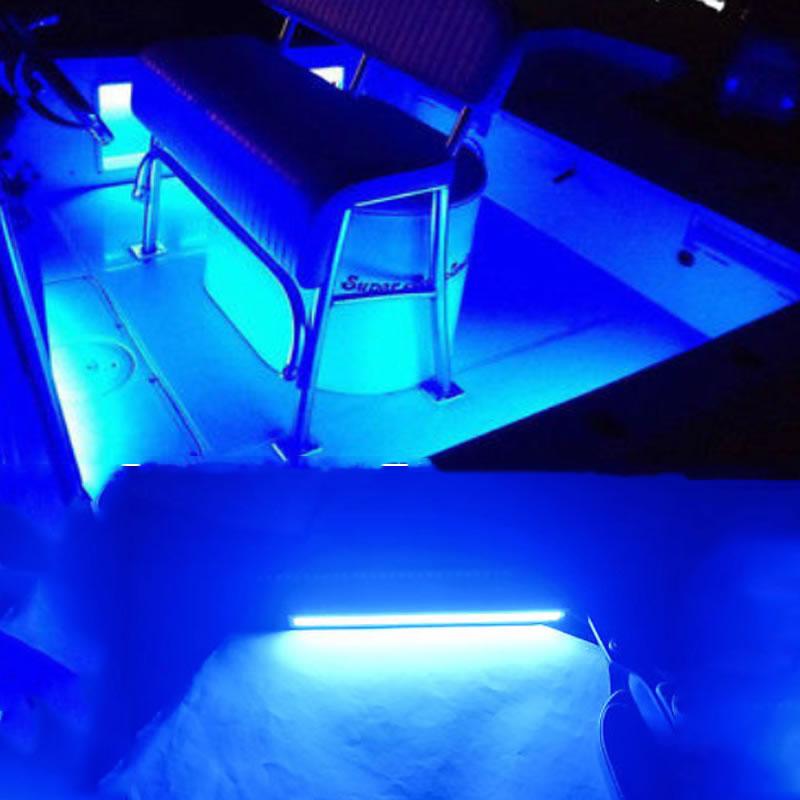 2pcs 12 V waterproof blue Marine Led Light Courtesy & Utility Strip for Boats