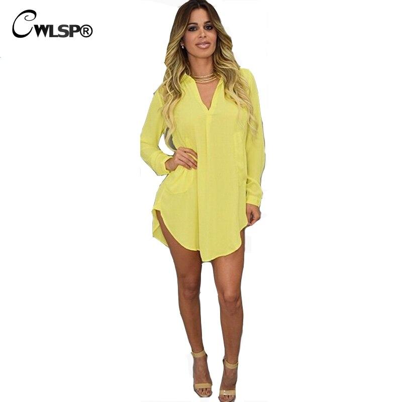 Cwlsp blusa de la manera camisa de vestir de mujer de manga larga atractiva irre