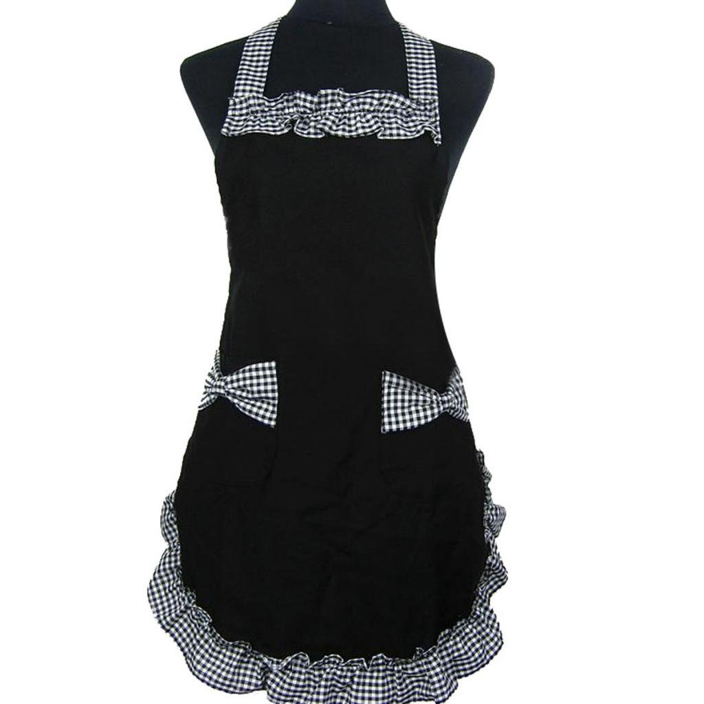 White apron maid - Hgho Womens Ladies Fancy Maid Set Apron With Bowknots Pockets China Mainland