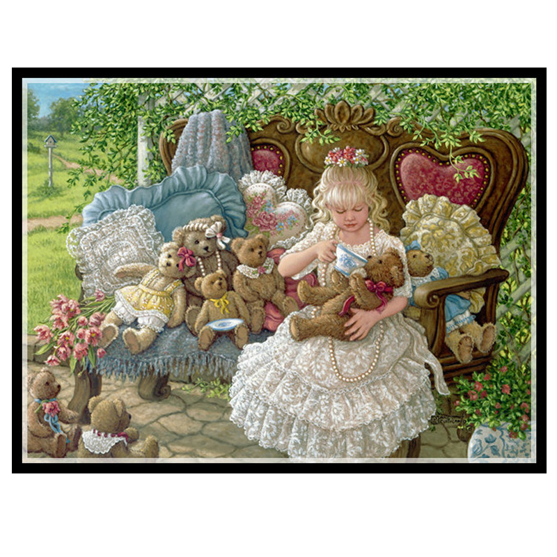 Golden panno Needlework DIY DMC Cross stitch Sets For Embroidery kit 14ct unprinted cotton thread Holly