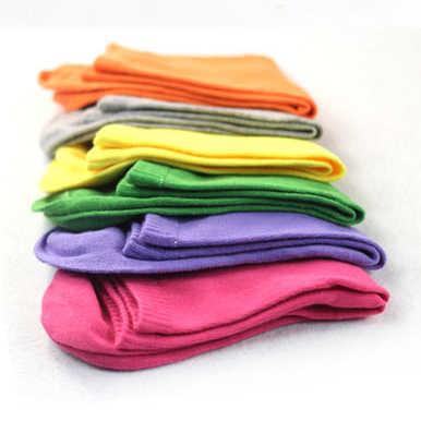 Лидер продаж, модные женские однотонные Короткие Носки ярких цветов на весну и осень-зиму, размер 34-41, милые носки, бесплатная доставка
